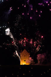 Somerset, England: Bruton – 'Spiral of Light' Festival Fireworks 4