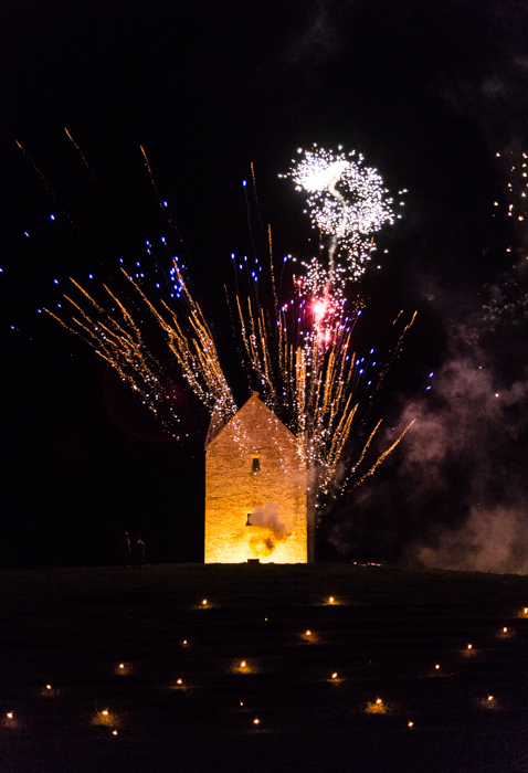 Somerset, England: Bruton – 'Spiral of Light' Festival Fireworks 6