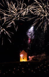 Somerset, England: Bruton – 'Spiral of Light' Festival Fireworks 7