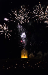 Somerset, England: Bruton – 'Spiral of Light' Festival Fireworks 8