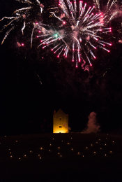 Somerset, England: Bruton – 'Spiral of Light' Festival Fireworks 10