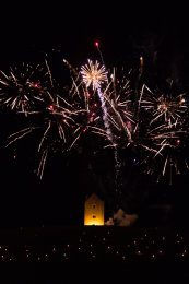 Somerset, England: Bruton – 'Spiral of Light' Festival Fireworks 12