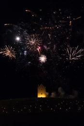 Somerset, England: Bruton – 'Spiral of Light' Festival Fireworks 13