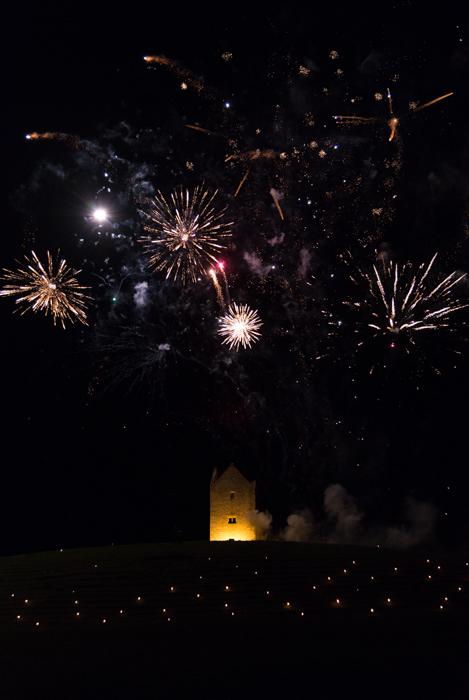 Somerset, England: Bruton – 'Spiral of Light' Festival Fireworks 13