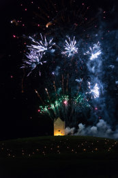 Somerset, England: Bruton – 'Spiral of Light' Festival Fireworks 14