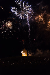 Somerset, England: Bruton – 'Spiral of Light' Festival Fireworks 15