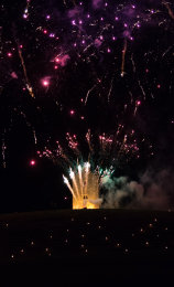 Somerset, England: Bruton – 'Spiral of Light' Festival Fireworks 16