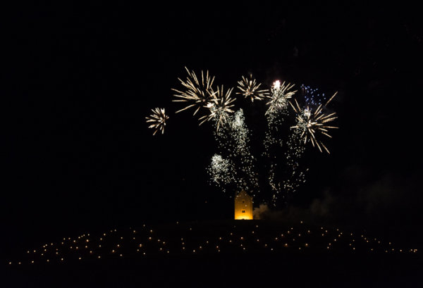 Somerset, England: Bruton – 'Spiral of Light' Festival Fireworks 17