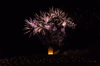 Somerset, England: Bruton – 'Spiral of Light' Festival Fireworks 18