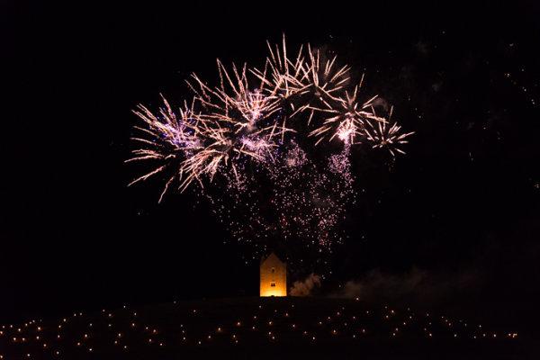 Somerset, England: Bruton – 'Spiral of Light' Festival Fireworks 18