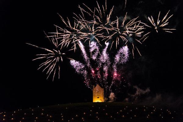 Somerset, England: Bruton – 'Spiral of Light' Festival Fireworks 19