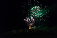 Somerset, England: Bruton – 'Spiral of Light' Festival Fireworks 21
