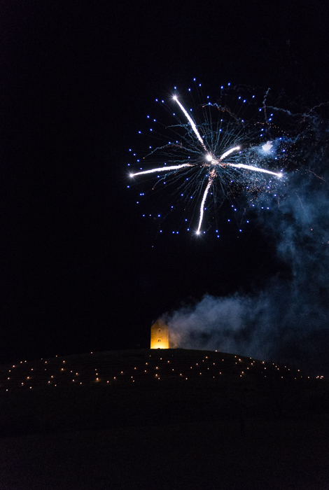 Somerset, England: Bruton – 'Spiral of Light' Festival Fireworks 23