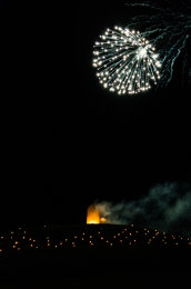 Somerset, England: Bruton – 'Spiral of Light' Festival Fireworks 24