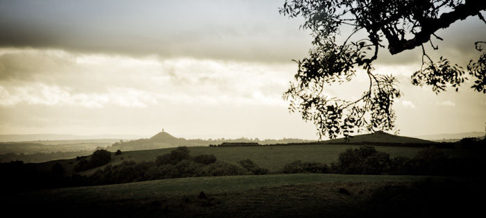 Over the Fields to Glastonbury Tor