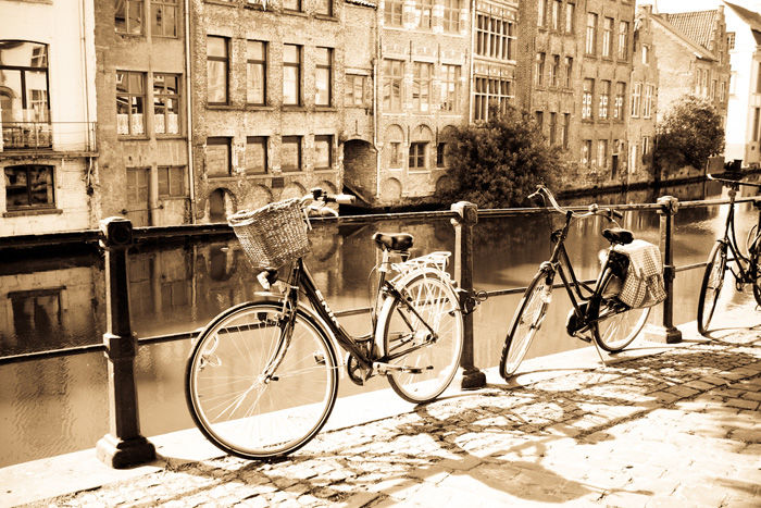 Ghent: Bikes by a Canal