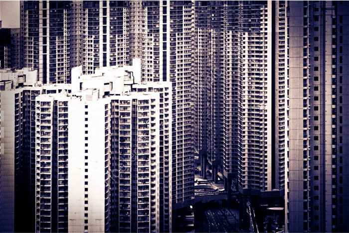 HONG KONG: densely packed towers