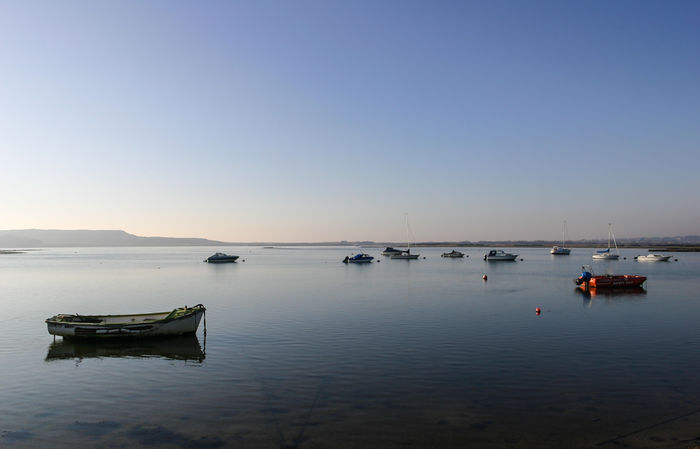 Boats at Stanpit - full colour, landscape format
