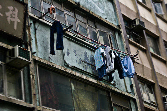Hanging Clothes, Hong Kong