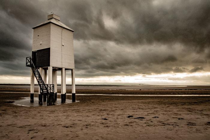 Burnham on Sea, Lighthouse (grey sky)