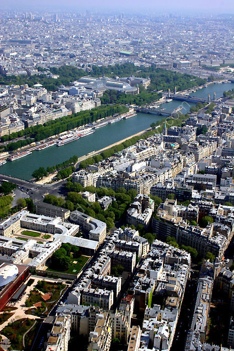 PARIS, FRANCE: city-scape from the Eiffel Tower