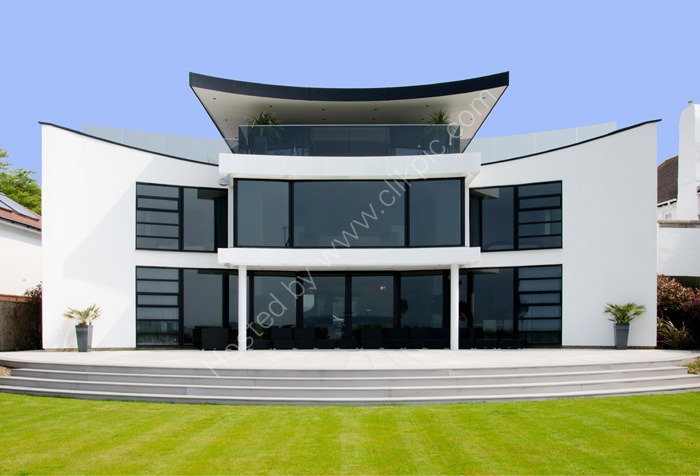 SANDBANKS, DORSET: Luxury home, front elevation