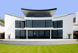 SANDBANKS, DORSET: Luxury home, front elevation