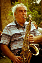 Saxophonist, Packhorse Fair, Bruton