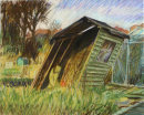 Allotments, Didsbury, (Falling Shed), 1990