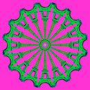 Eiffel Wheel Green Pink