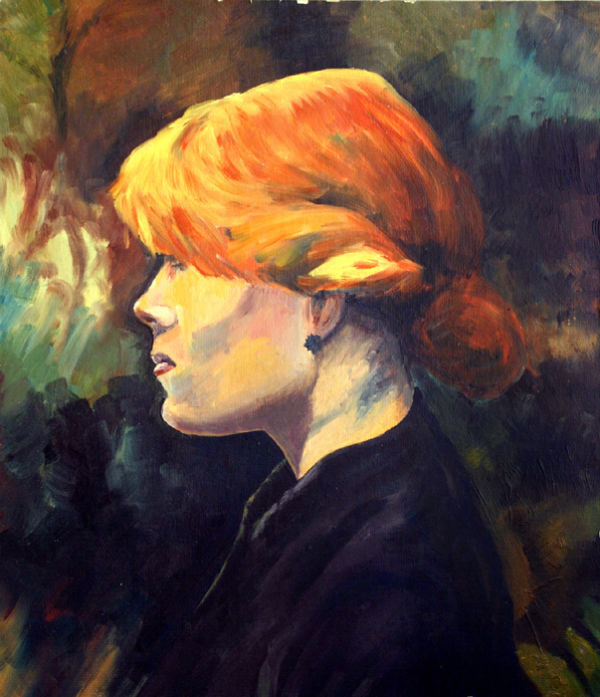 Portrait after Toulouse Lautrec