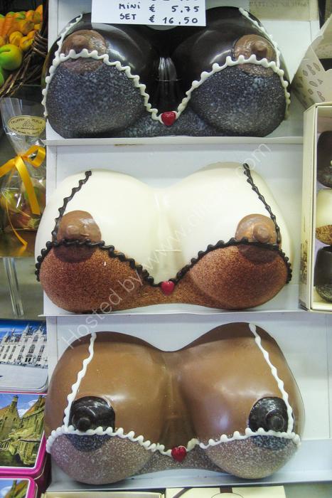 Bruges 1 (chocolate bosoms)