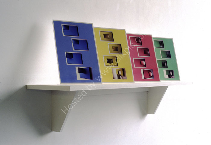 Adjustable Woodchip Colourfields Display