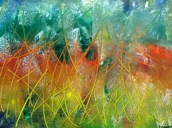 Through the long grass. Acrylic
