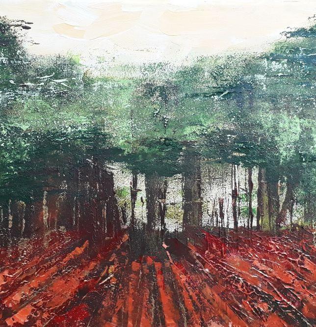 Through the Trees - Acrylic on canvas 30cm x 30cm
