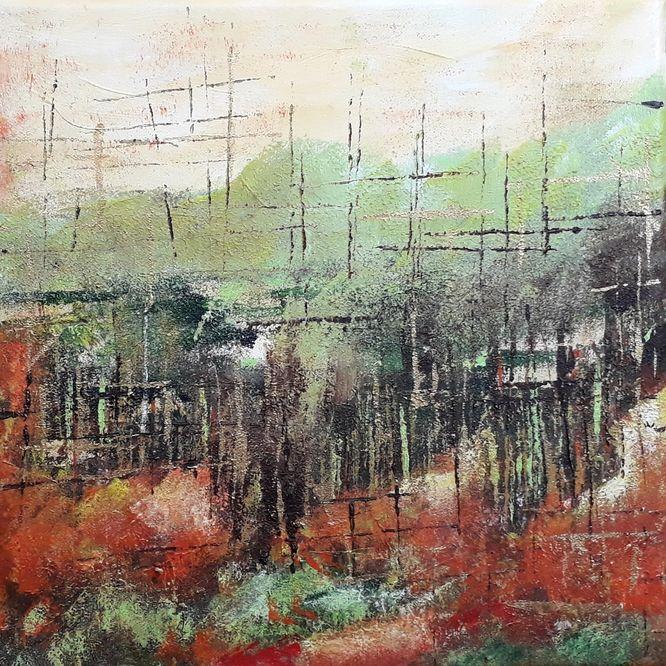 Autumn - Acrylic on canvas 30cm x 30cm