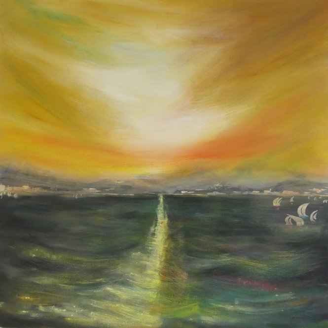 Bay of Biscay 2, Acrylic on canvas, 80cm x 80cm
