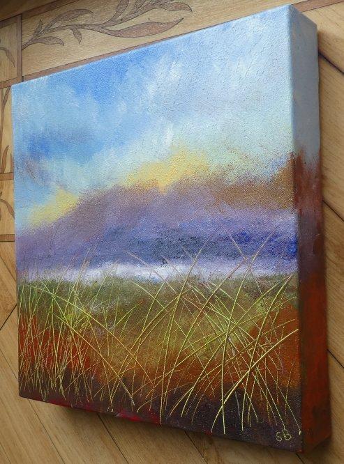 Impressionistic Camphill 2 side, Acrylic on canvas, 30cm x 30cm
