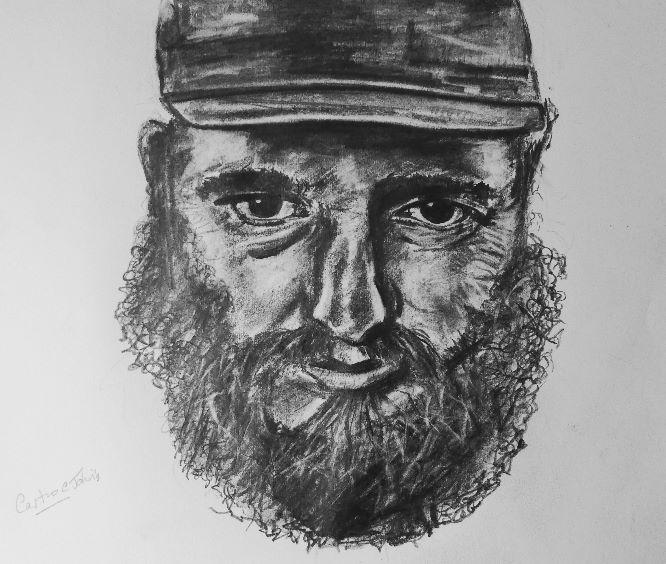 Castro in pencil