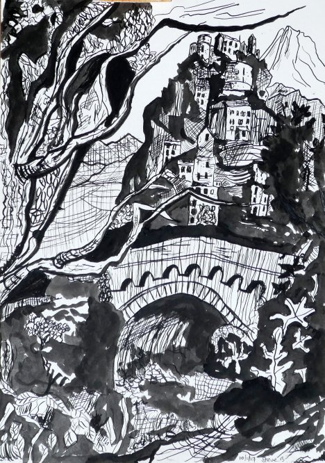 Corsica in ink A4