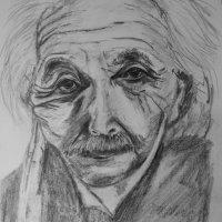 Einstein in pencil A3