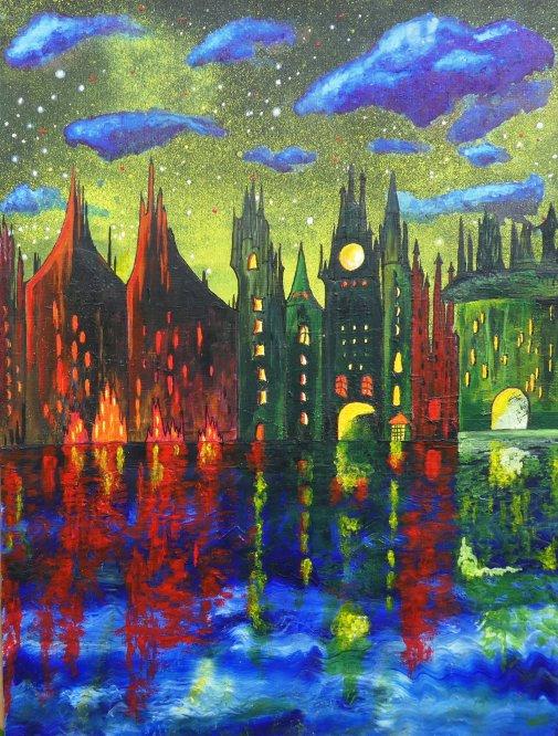 Fantasy in Acrylic A3 (Sold)