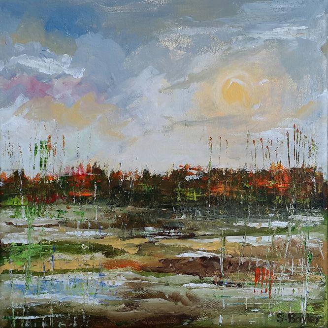 Marshes. Acrylic on canvas 30cm x 30cm