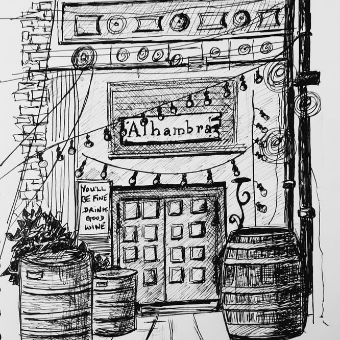 Alhambra Bar at Cains Brewery Village, Liverpool.