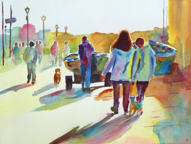 On the way. Watercolour A3 (Sold)
