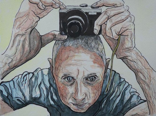 Self portrait - Watercolour on paper