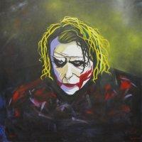 The Joker in acrylic on canvas 100cm x 100cm