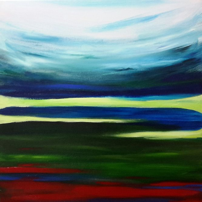 Landscape 3 - Acrylic on canvas 60cm x 60cm