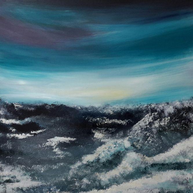 Bubbling Horizon - Acrylic on canvas 60cm x60cm
