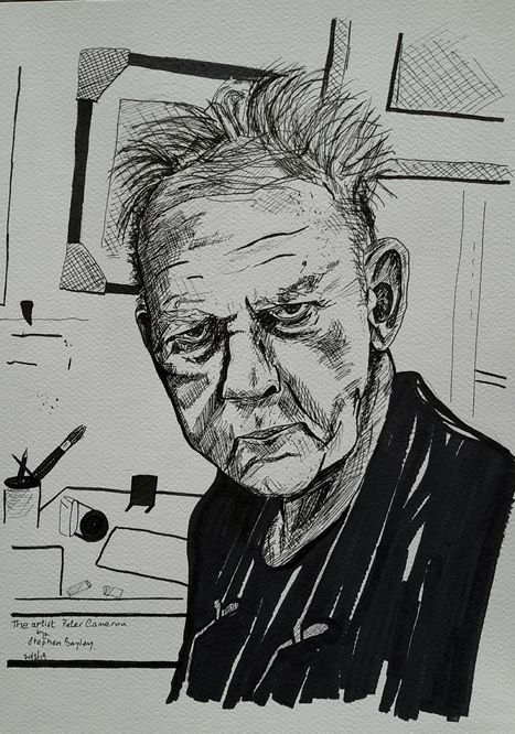 Peter Cameron the Artist A3 in ink